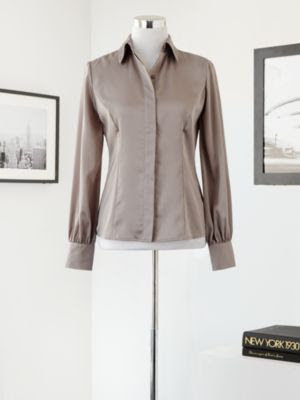 Eva Mendes Collection Charmeuse Blouse
