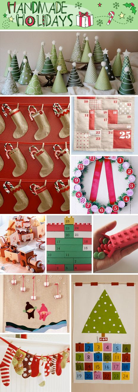 Handmade Christmas Advent Calendars, a great alternative to store bought calendars. Get inspired and create your own with these great tutorials and how-tos.