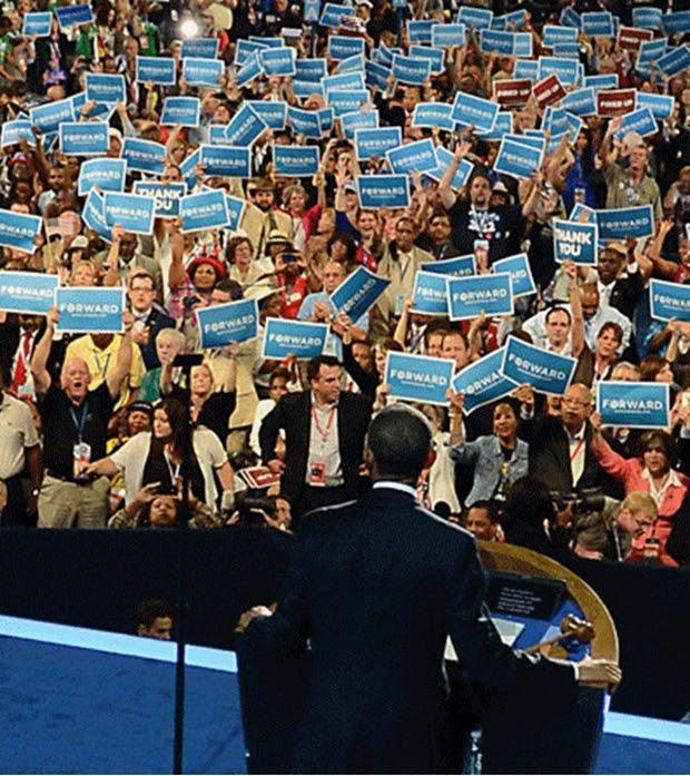 Fotografia original do discurso de Obama (Foto: Todd Sumlin)