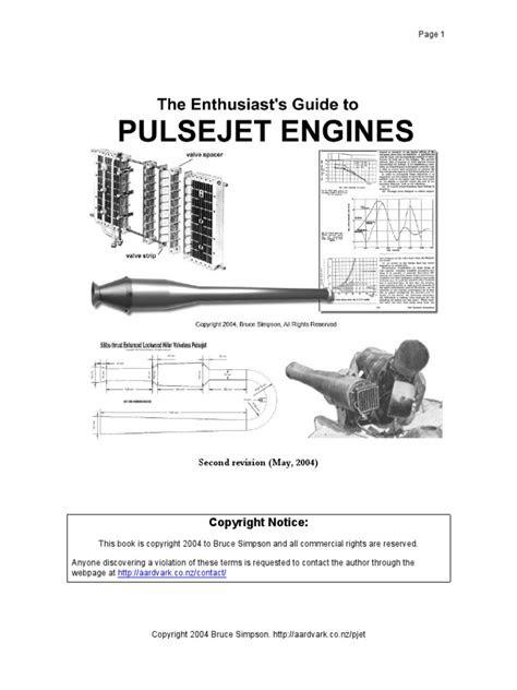 Plans Jet Engine Pulsejet Book | Engines | Combustion