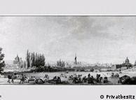 Empacotamento dos quadros confiscados em Viena, em obra de Benjamin Zix (1772-1811)