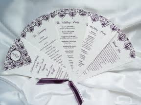 Fan Style Wedding Programs   Designs by Ginny