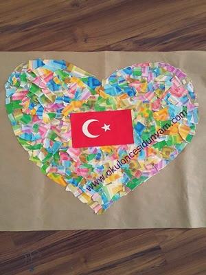 29 Ekim Cumhuriyet Bayramı Okul öncesi Dünyam