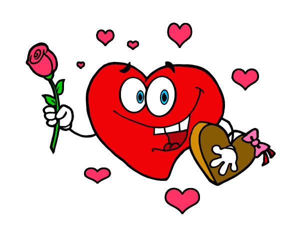 Dibujo De San Valentín Pintado Por Irene01 En Dibujosnet El Día 19