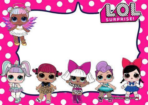 FREE LOL Surprise Dolls Invitation Templates?ALL