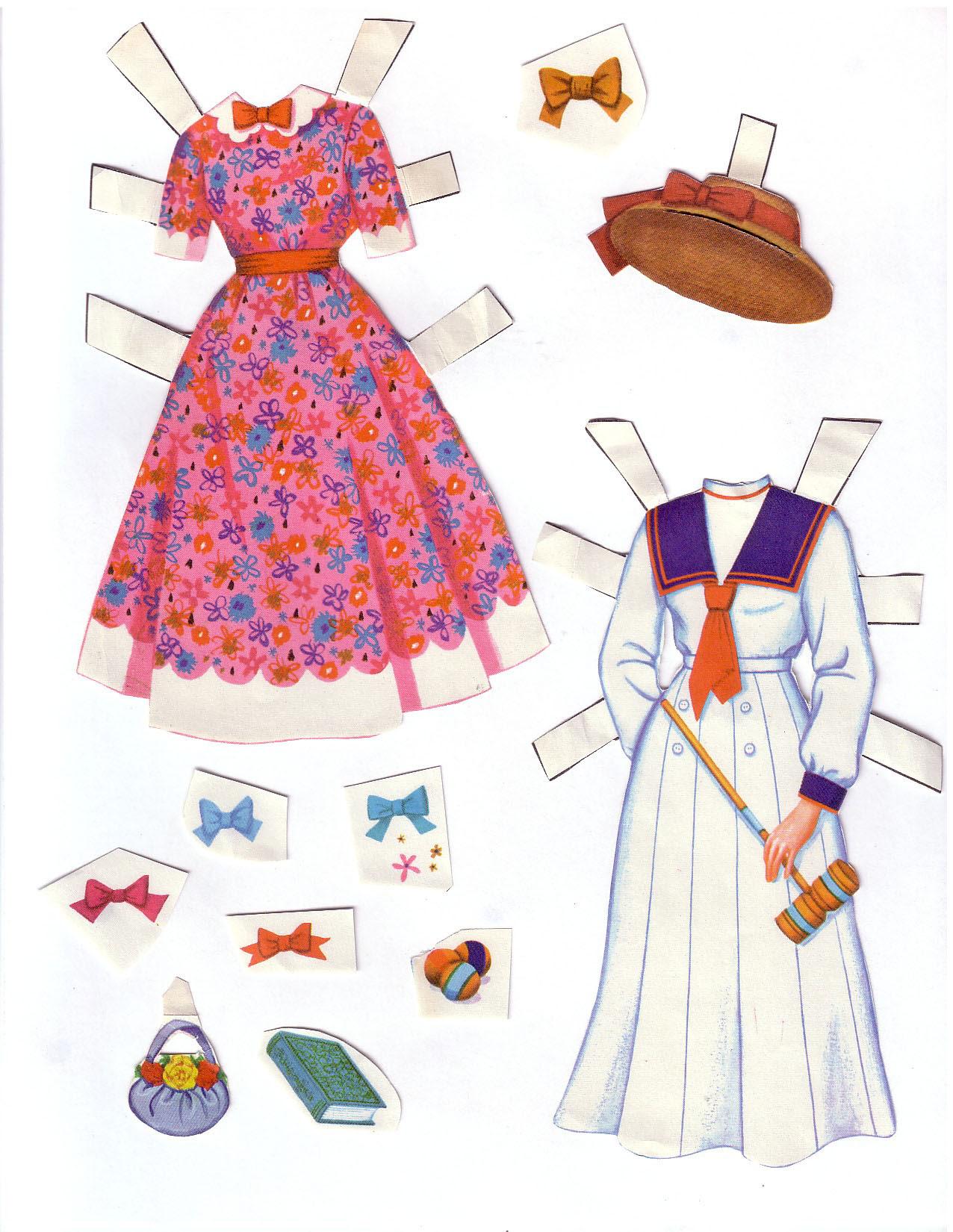 Hayley Mills - Summer Magic paper doll set (1963) 004
