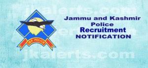 J&K Police SPO Recruitment 2018 200 posts.