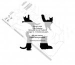 Cat Collection Silhouettes Woodworking Patterns - fee plans from WoodworkersWorkshop® Online Store - cats,kittens,kitty,felines,pets,animals,yard art,painting wood crafts,scrollsawing patterns,drawings,plywood,plywoodworking plans,woodworkers projects,workshop blueprints