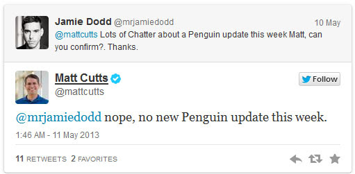 Matt Cutts tweet 1