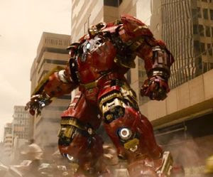 The Hulkbuster suit will see action in AVENGERS: AGE OF ULTRON.