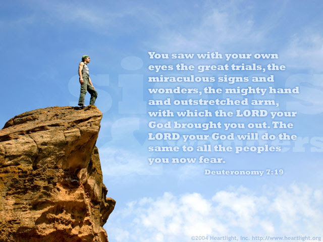 Inspirational illustration of Deuteronomy 7:19