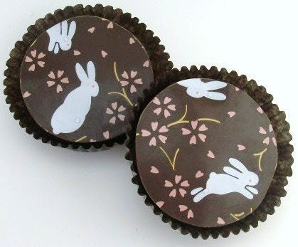 Designer Chocolate Covered Oreos -Sweet Bunnies Design Baby Shower Party Favor Gift