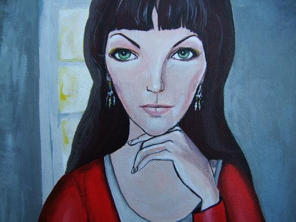 "Big Acrylic Original Painting on Canvas ""Internet lover"""