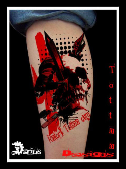 Picture 3 Of 28 From Black Red Stains Dots Tattoo Designs