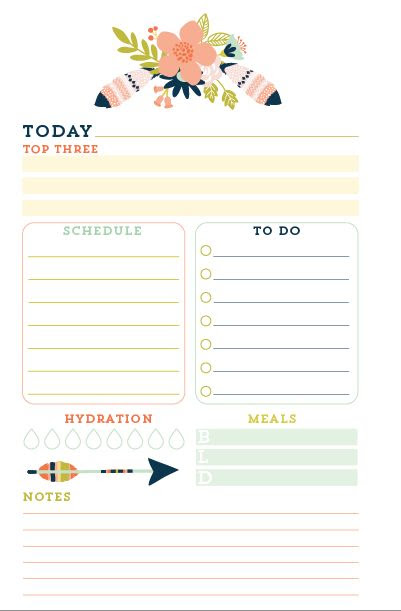 Daily planners, Planner inserts and Printed on Pinterest