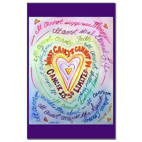 Rainbow Cancer Heart Cancer Cannot Poem Painting
