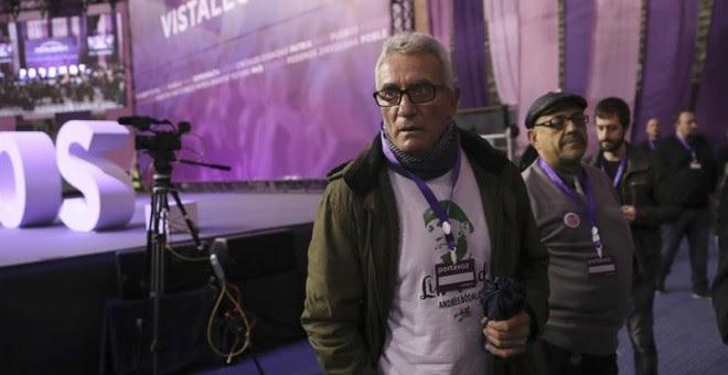 El diputado de Podemos Diego Cañamero, en Vistalegre. / CHEMA MOYA (EFE)