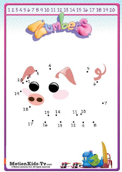 Une Los Puntos Del 1 Al 20 Con Dibujos De Animales Motionkids Tv