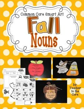 Common Core Nouns Smart Art, Student Recording Sheets, and