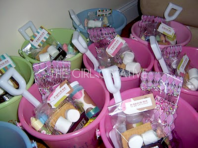 Beach Pail Goody Bags For Summer Birthday Party The Girl Creative