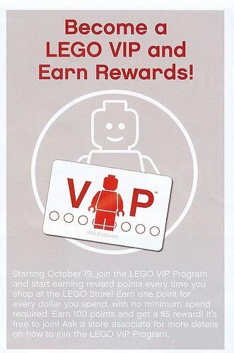 LEGO VIP program