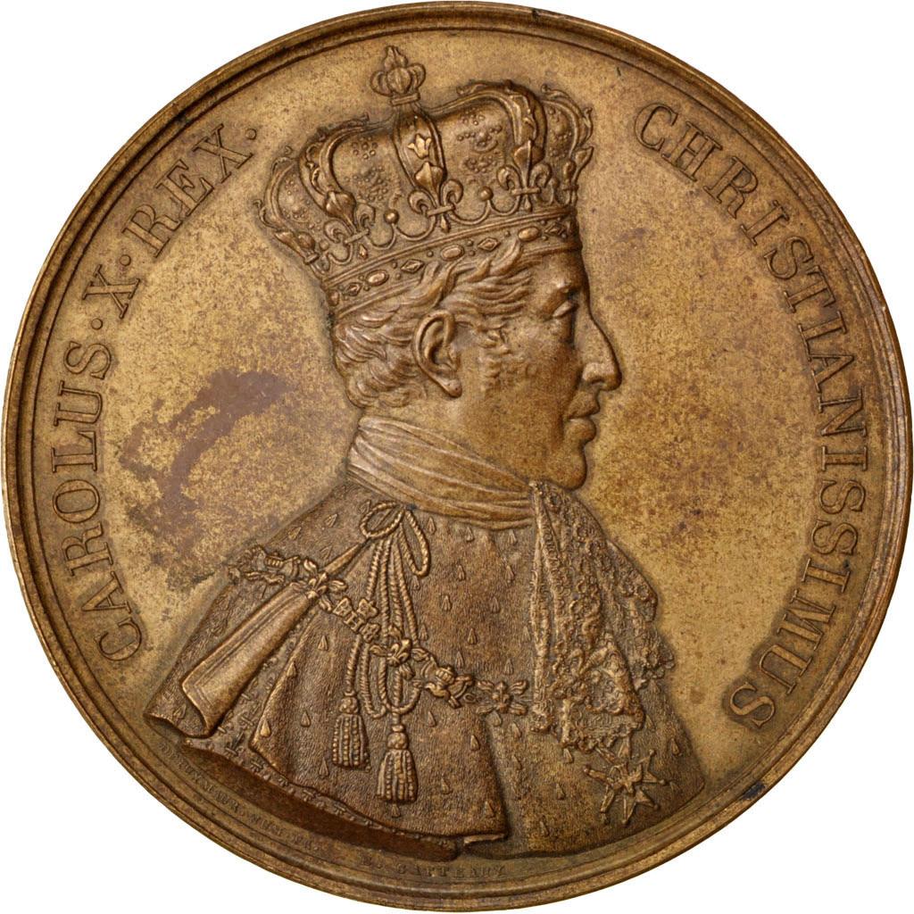 Charles X, Médaille, Sacre