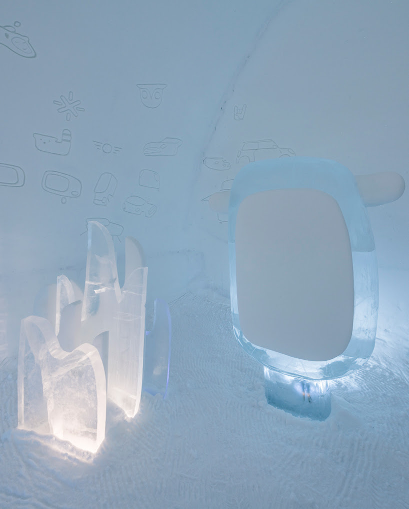 ice hotel in sweden by MINI