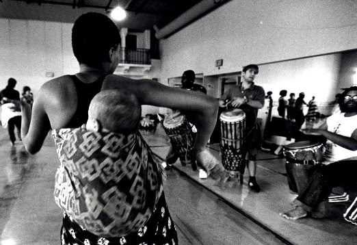 Photo  of Drummers at the Malonga Casquelourd Center for the Arts