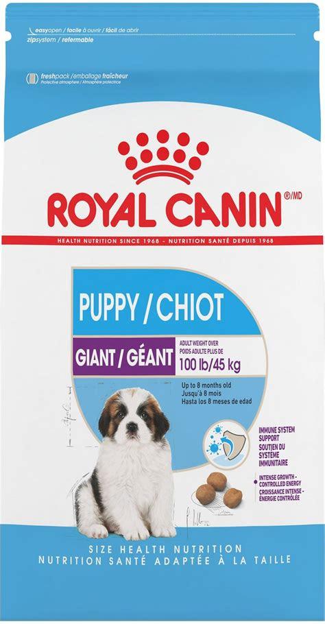 royal canin giant puppy dry dog food  lb bag chewycom