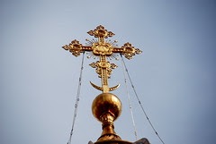 Cross on top of Cathedral of Christ our Savior