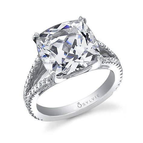 Nina   Cushion Cut Split Shank Engagement Ring   SY337