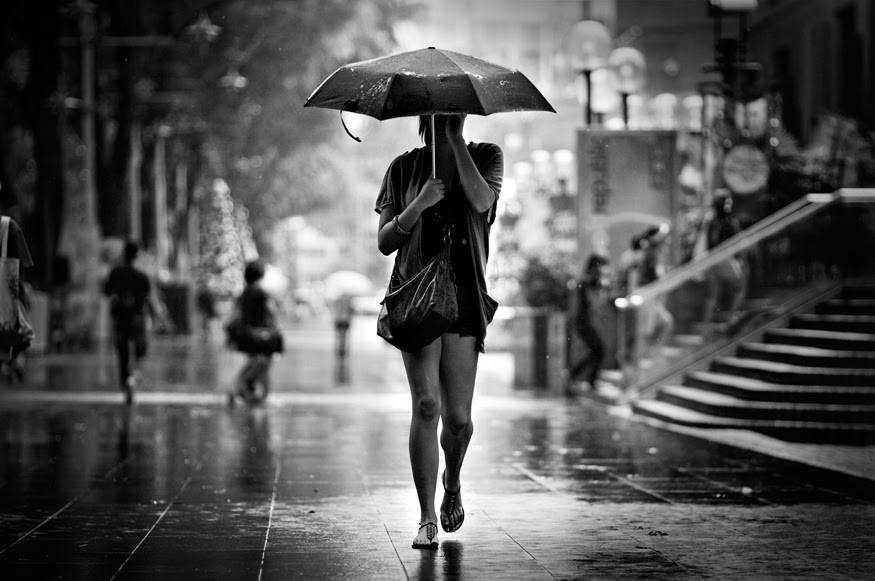 Lady with Umbrella by dannyst
