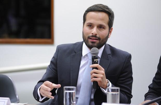 O ministro da Cultura, Marcelo Calero, durante audiência pública na CPI da Lei Rouanet (Foto: Lúcio Bernardo Jr./Câmara dos Deputados)