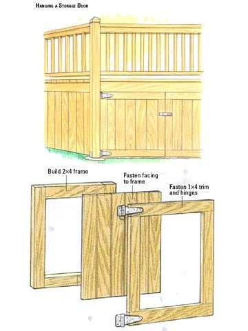 how to build a storage shed under your deck