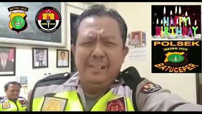 Humas Polsek Batu Ceper Kota Tangerang Beri Ucapan HUT untuk Ketua JTR