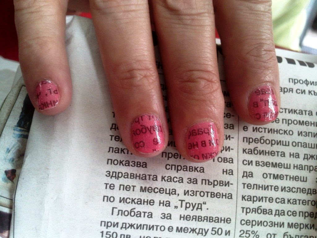 Make Newspaper Print Nail Art Designs Perfectly 9 Easy Steps Tutorial