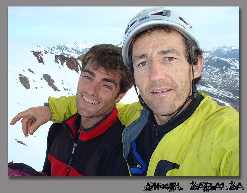 yo y mikel en la cima