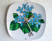 Wall Clock Hand Painted Floral Design - RFForeverClocks
