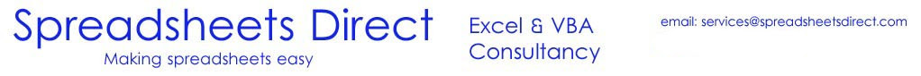 Excel & VBA Consultants - www.spreadsheetsdirect.com