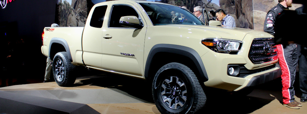 This week the newly-redesigned 2016 Toyota Tacoma was revealed to a ...