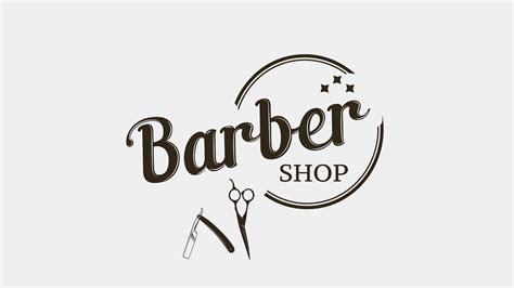 illustrator tutorial barber shop logo design youtube