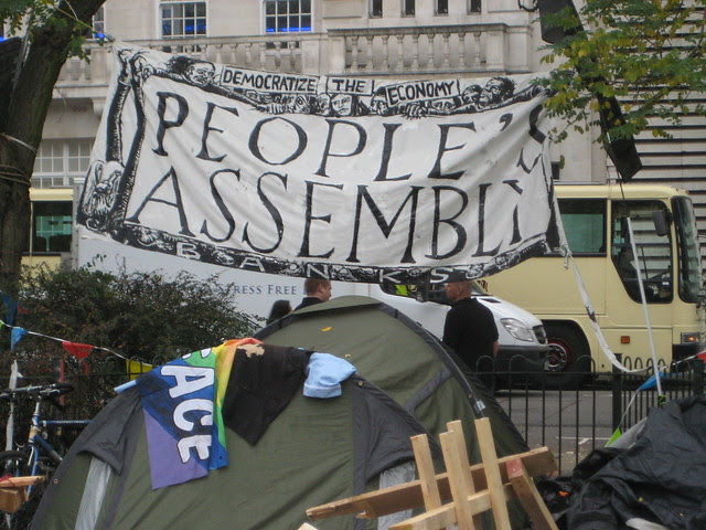 People's Assembly - Occupy London - Finsbury Square - Real Democracy Now