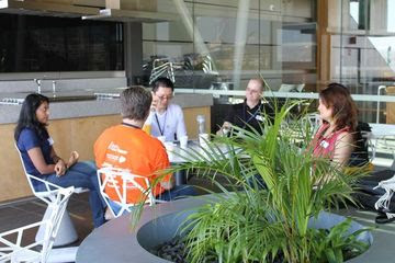 Tom Worthington and other participants at Random Hacks of Kindness Sydney