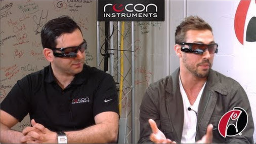 Scoble recons Recon Instruments' Heads-up Display (HUD) technology, the Recon Jet