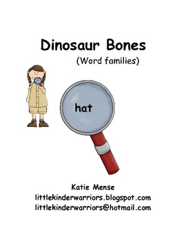 Dinosaur literacy center, word families (Revised!)