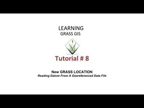 Video Tutorial GRASS GIS (8) - Proyek baru dengan datum data file bergeoreferensi