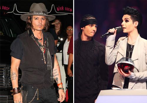 Johnny Depp, Tokio Hotel - Johnny Depp und Tokio Hotel haben zusammen gefeiert