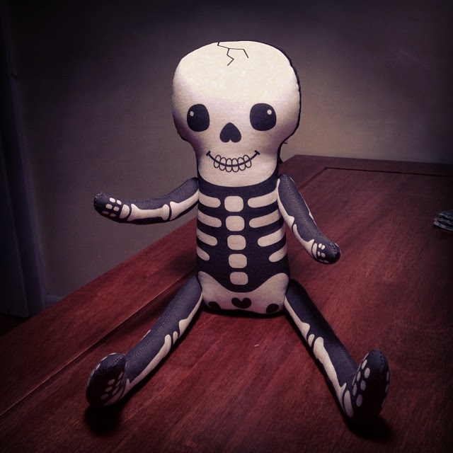 Skelly doll done ✔. It only took 2 years  to attach the arms and legs.