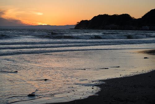 Kamakura New Year sunset