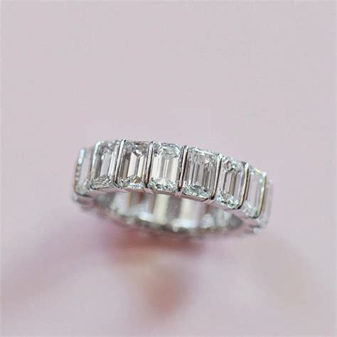 Eternal love in our baguette eternity band, handmade by